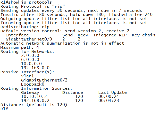 Show_IP _Protocols - RIP_Timers