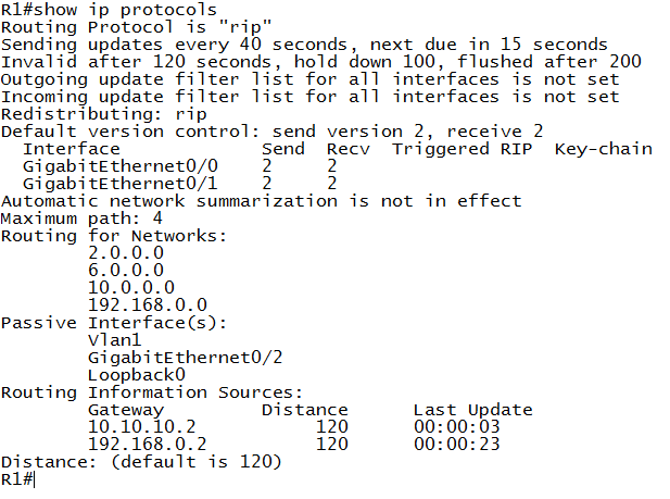 how IP Protocols - RIP Timers - sesudah